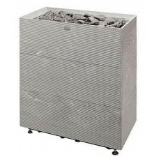 Напольная электрокаменка Tulikivi Tuisku XL 18 кВт из талькомагнезитного камня для сауны и бани объем парилки 12-36 м.куб вес камней 120 кг