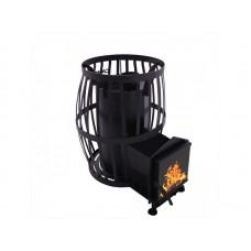 Дровяная печь для бани и сауны Canada Бочка 20 м³ с выносом и стеклом 305*305