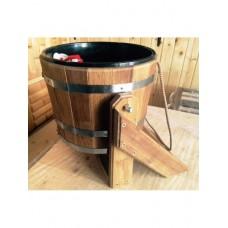Ведро-водопад из дуба с пластиковой вставкой Bentwoodобъём 20 литров для бани и сауны