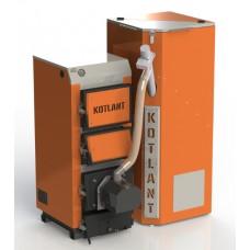Твердотопливный котел КГУ Pellets 30 кВт с пеллетной факельной горелкой OXI и бункером для горючего