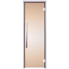 Стеклянная дверь для хамама Greus Exclusive 70/200 бронза (2 петли) угол открытия дверей 180⁰