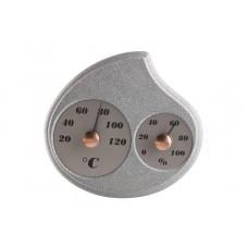 Термогигрометр Hukka из талькомагнезита для бани и сауны