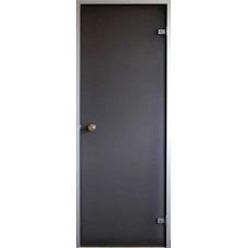 Стеклянная дверь для хамама Saunax Classic 70/200 матовая бронза, угол открытия дверей 180⁰