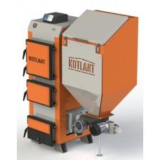 Пеллетный бытовой котел с бункером Kotlant КГП 25 кВт с автоматикой и вентилятором