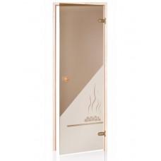 Стеклянная дверь Andres SDD-3 бронзовая 70x190 см для бани и сауны (клён)