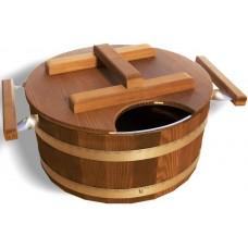 Запарник Tesli 15 литров термированная липа и нержавеющая сталь для бани и сауны