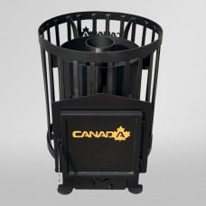Дровяная печь-каменка Canada Бочка для бани и сауны без выноса объем парилки 15 м.куб вес камней 100 кг