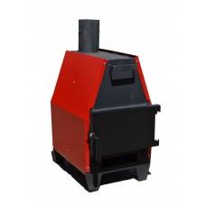 Конвекционная печь длительного горения ProTech ZUBR ПДГ 15 кВт для быстрого нагрева помещений