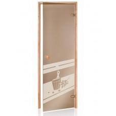 Стеклянная дверь Andres SDD-5 бронзовая 70x190 см для бани и сауны (клён)