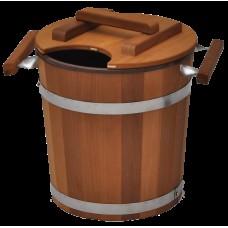 Запарник Tesli с пластмассовой вставкой 20 л термированная липа и нержавеющая сталь для бани и сауны