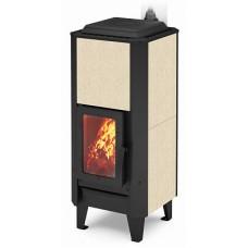 Конвекционная отопительная варочная печь 12 кВт Теплодар Вертикаль Керамика 120 длительного горения