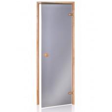 Стеклянная дверь Andres SCAN серая 70x190 см для бани и сауны (клён)
