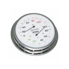 Термогигрометр для сауны и бани Finnsa (Германия) из нержавеющей стали