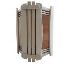Ограждение светильника Greus угловое из гималайской соли на 2 плитки для бани и сауны