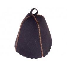 Шапка исскуств.войлок черный 250 для бани и сауны