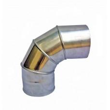 Одностенное Колено 87° Ø120 мм из нержавеющей стали