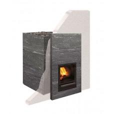 Дровяная печь-каменка Tulikivi KINOS 20 S1 для бани и сауны с выносом со стеклом объем парилки 8-20 м.куб вес камней 60 кг
