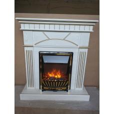 Каминокомплект Fireplace Япония Слоновая кость 2D технология пламени с обогревом со звуком