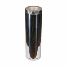 Дымоходы из нержавейки Kraft 180/250 мм (нержавейка в нежавейке) и утепление минеральная вата