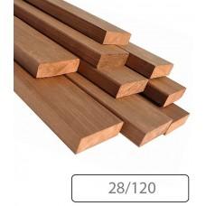 Полок широкий Термоосина 28/120 мм для бани и сауны