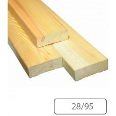 Полок Финская ель 28/95 мм для бани и сауны