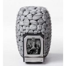Дровяная печь-каменка HUUM HIVE Wood 17 kW для бани и сауны без выноса со стеклом объем парилки 8-16 м.куб вес камней 130 кг