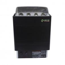 Настенная электрокаменка EcoFlame AMC-90 STJ 9 кВт для сауны и бани объем парилки 8-13 м.куб вес камней 20 кг