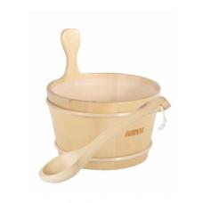 Комплект Шайка 4 л + Лейка 48 см Harvia для бани и сауны