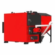 Пеллетный промышленный котел Kraft Prom F 600 кВт с факельной горелкой и жаротрубным теплообменником