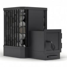 Дровяная печь для бани и сауны Canada Ребро на 20 кубов с выносом вместимость камней до 80 килограмм