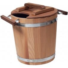 Запарник Tesli с нержавеющей вставкой 20 литров термированная липа для бани и сауны