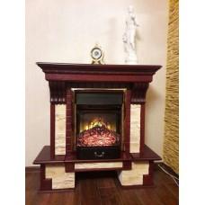 Каминокомплект Fireplace Франция Желтый + Каролина 2D технология пламени с обогревом со звуком