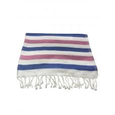 Банное полотенце пештемаль Wave (бамбук 100%)/ розовый + голубой для хаммама - турецкой бани