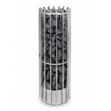 Напольная электрокаменка Helo ROCHER 105DE хром 10.5 кВт + пульт Elite для сауны и бани объем парилки 9-15 м.куб вес камней 100 кг