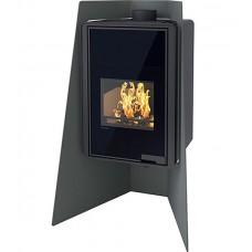Отопительная печь-камин длительного горения FLAMINGO DELUXE ISLAND (черный)