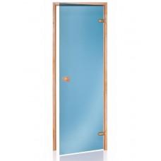 Стеклянная дверь Andres SCAN синяя 70x190 см для бани и сауны (клён)