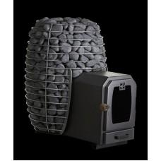 Дровяная печь-каменка HUUM HIVE Wood LS 17 kW для бани и сауны с выносом со стеклом объем парилки 8-16 м.куб вес камней 130 кг
