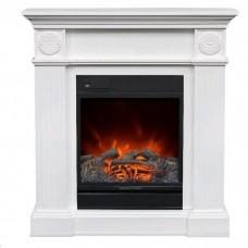 Каминокомплект Fireplace Бангкок Белая эмаль 2D технология пламени с обогревом со звуком