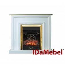 Каминокомплект IDaMebel Adele Белый Majestic Brass
