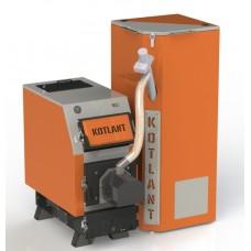 Твердотопливный котел КВУ Pellets 16 кВт с пеллетной факельной горелкой OXI и бункером для горючего