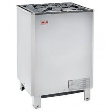 Напольная электрокаменка HELO SKLE 1501 хром 15 кВт для сауны и бани объем парилки 14-24 м.куб вес камней 60 кг