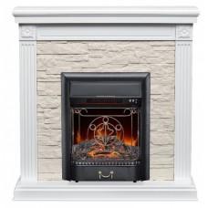 Каминокомплект Fireplace Чехия Белый 2D технология пламени с обогревом со звуком