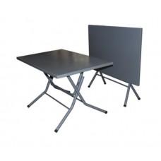 Стол Rud RT-90 садовый мобильный складной серый (металл) 900х600 мм