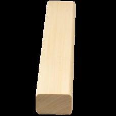 Брус лавочный липа сухой, строганный 35х24 мм Люкс Tesli для бани и сауны
