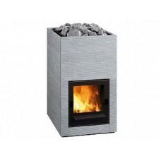 Дровяная печь-каменка Tulikivi HILE для бани и сауны без выноса со стеклом объем парилки 8-20 м.куб вес камней 60 кг